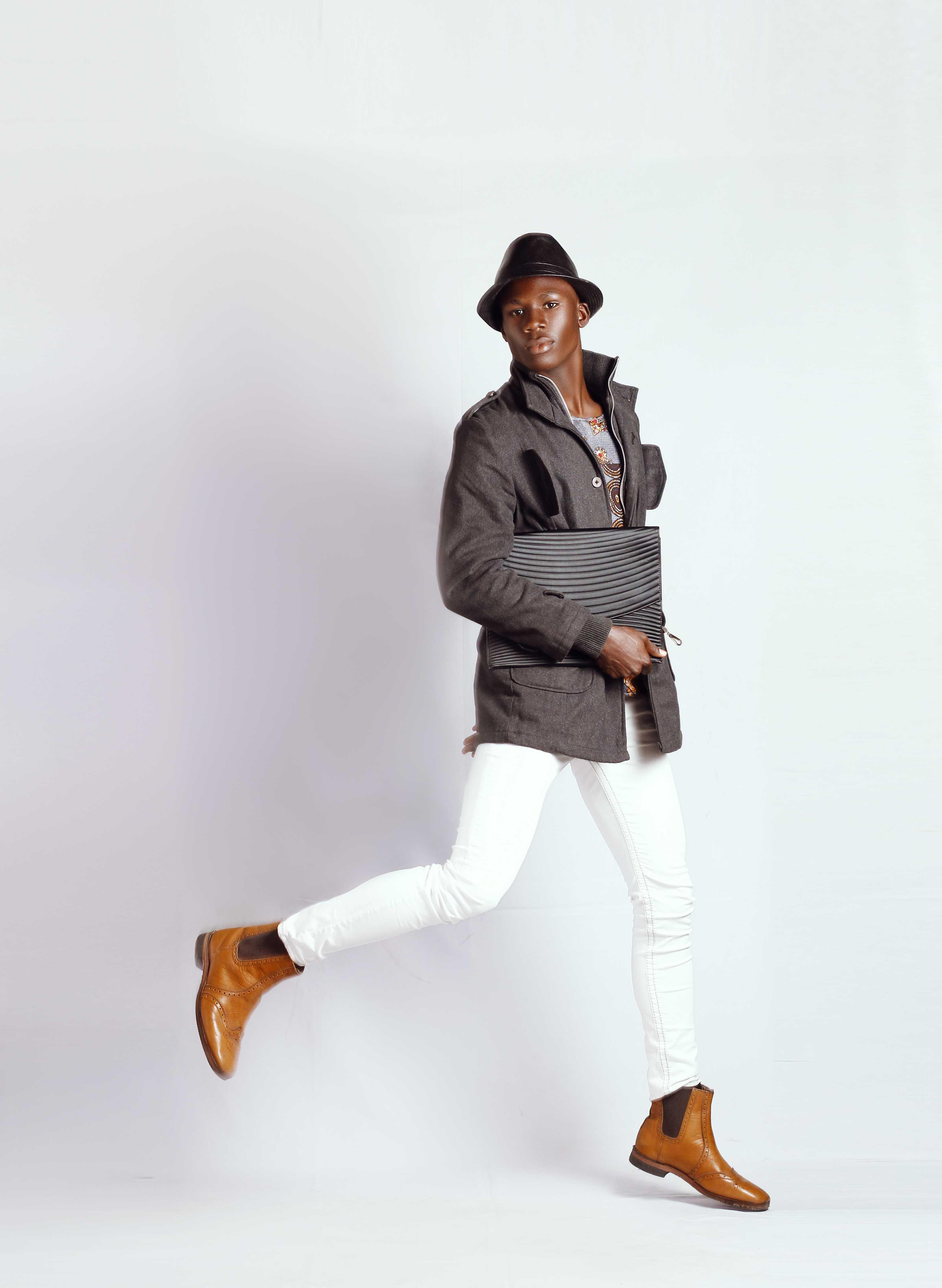 victor nduka in agency shoot